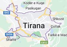 Kaart van Tirana