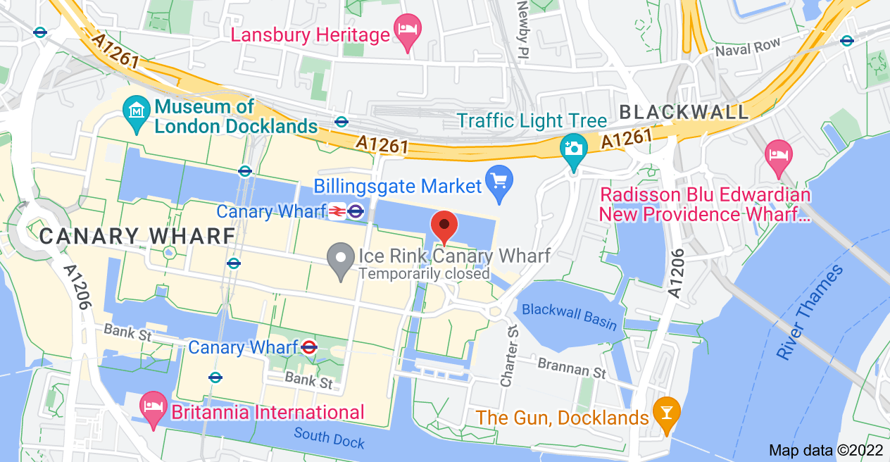 Map of 1 Churchill Place, 1 Churchill Pl, Canary Wharf, London E14 5HP