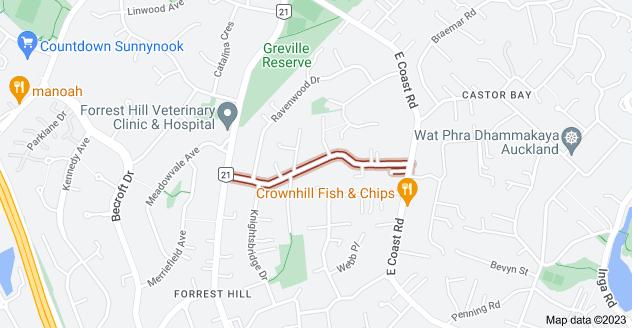 Location of Richards Avenue