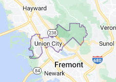 Map of Union City, California