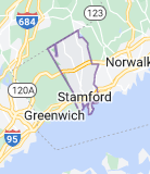 Map of Stamford, Connecticut
