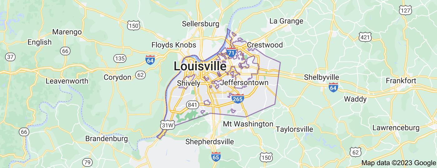 Location of Louisville
