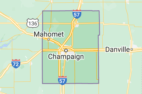 Map of Champaign County, Illinois