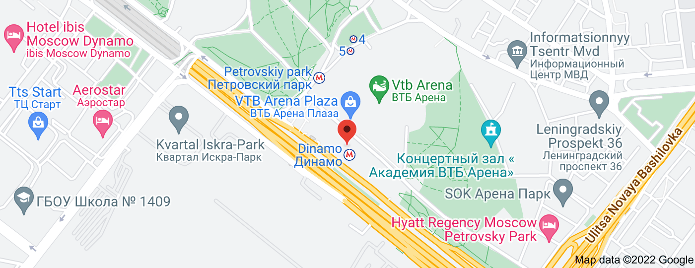 Location of Dinamo