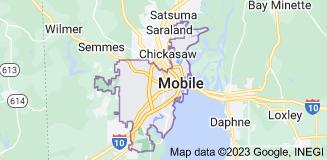 Map of Mobile, Alabama