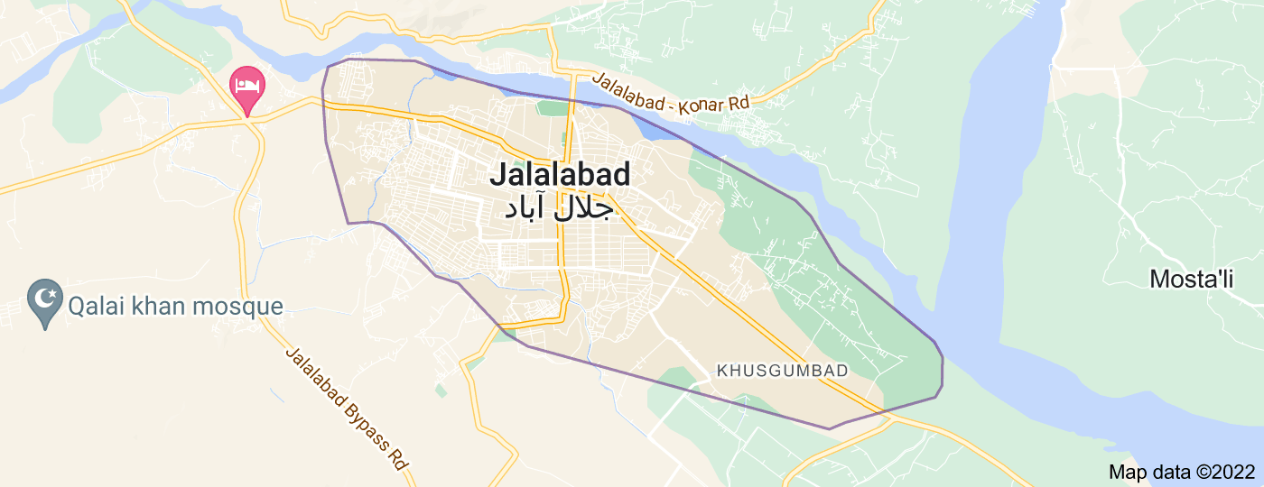 Location of Jalalabad