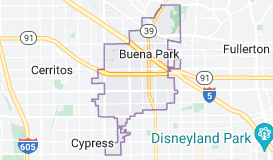 Map of Buena Park