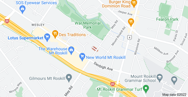 Location of Cullen Avenue