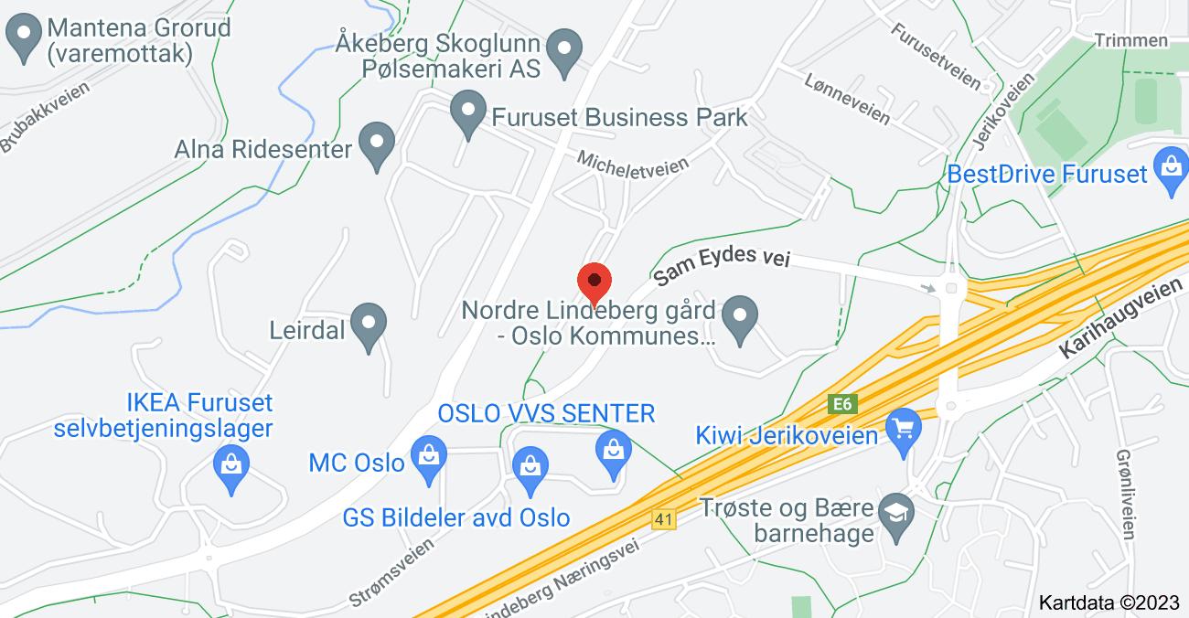 Kart over Micheletveien 54, 1053 Oslo