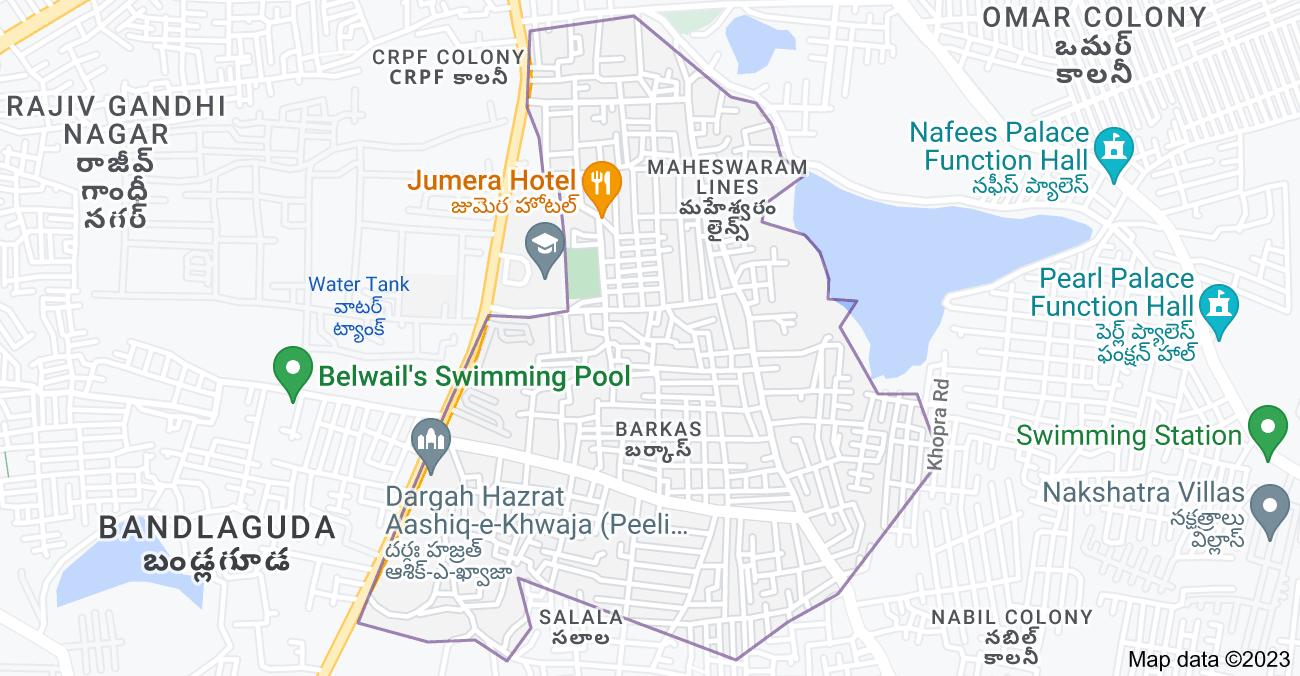 Map of Barkas, Chandrayangutta, Hyderabad, Telangana 500005, India