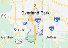 Map of Overland Park, Kansas