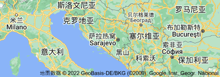 Location of 波斯尼亚和黑塞哥维那