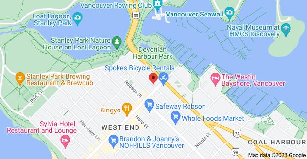 Map of 1818 Alberni St, Vancouver, BC V6G 2L6