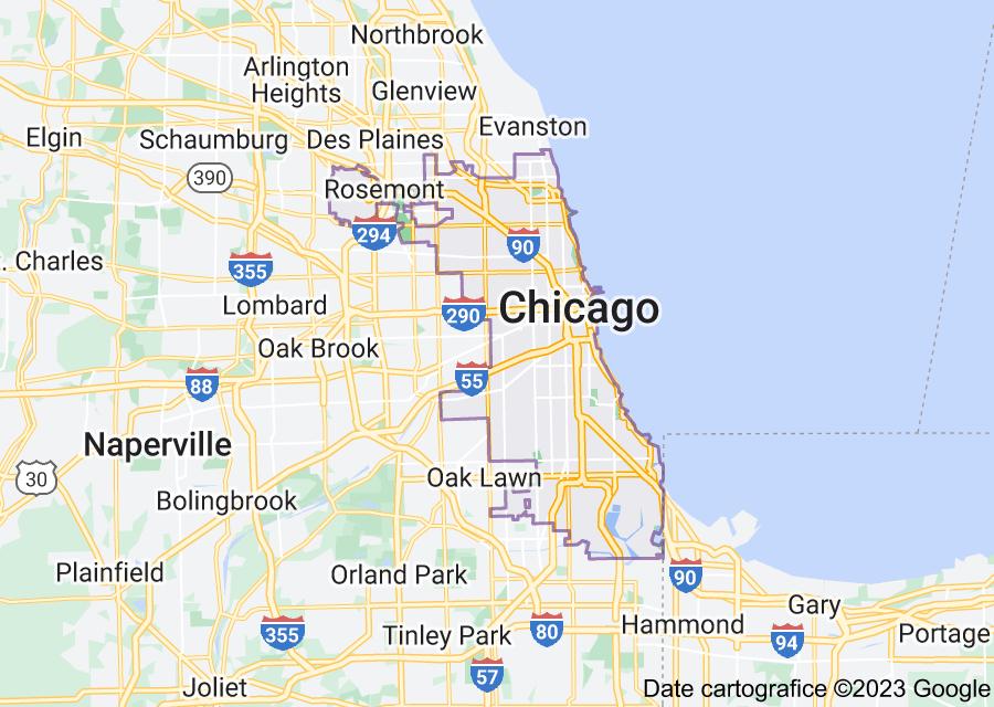 Location of Chicago