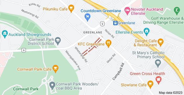 Location of Puriri Avenue