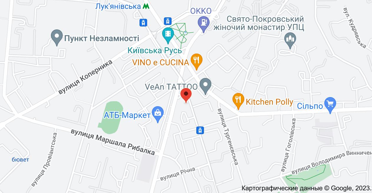 ул. Дмитриевская, 75, Киев, 02000: карта