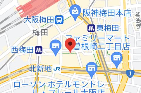 東京上野クリニック 大阪医院の地図