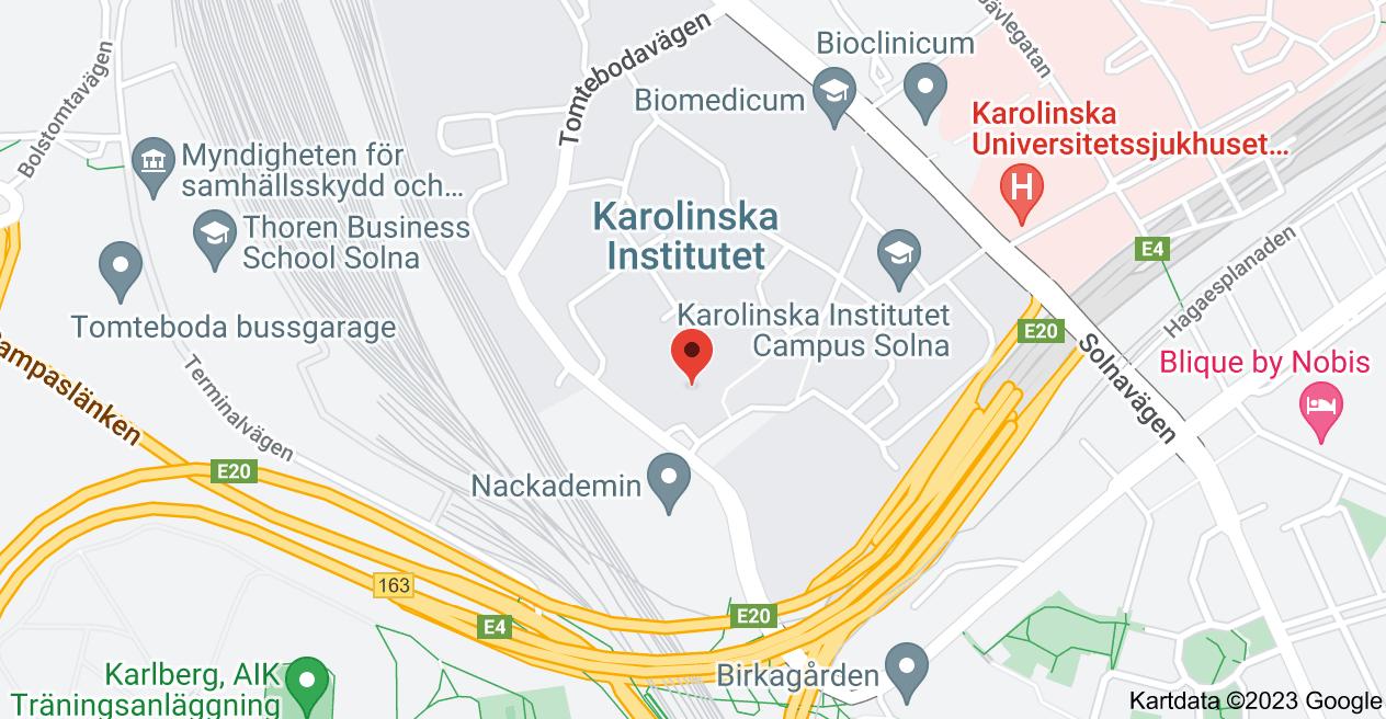 Karta över Berzelius väg 3, 171 65 Solna
