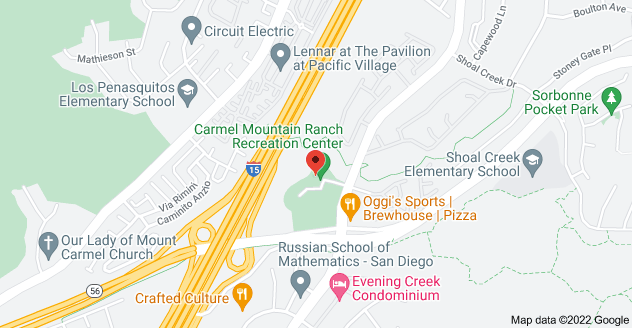 Map of 10152 Rancho Carmel Dr, San Diego, CA 92128