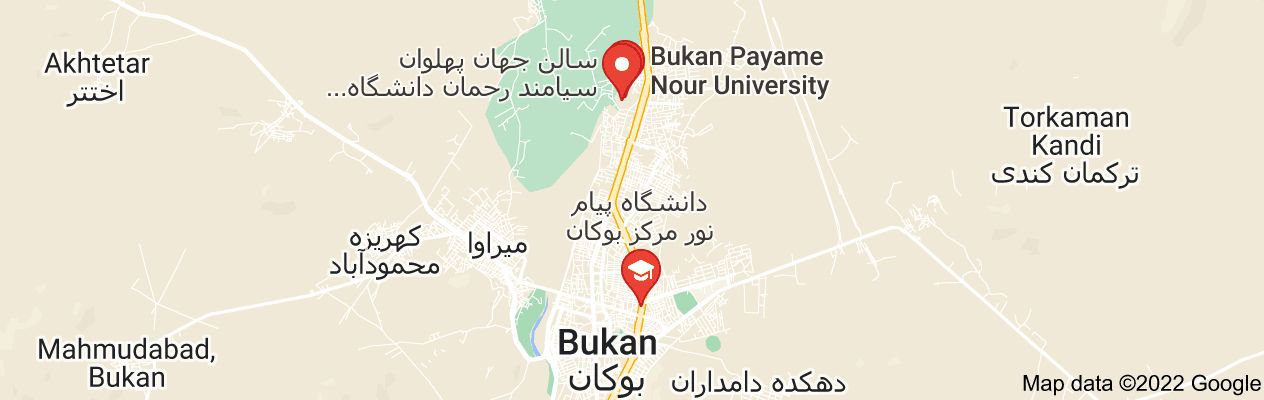 Map of پیام نور