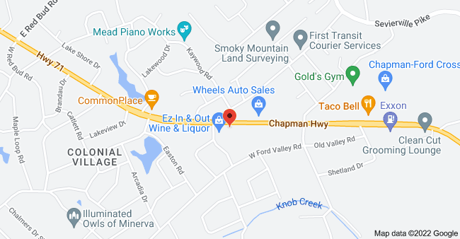 Map of 6209 Chapman Hwy, Knoxville, TN 37920