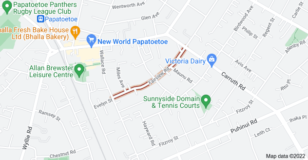 Location of Fairview Road
