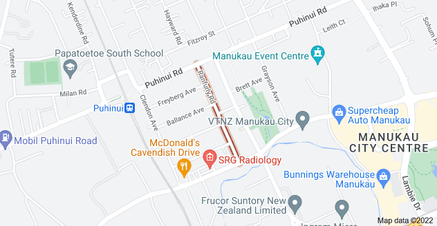 Location of Ranfurly Road