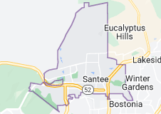 Map of Santee, California