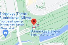 Location of Buninskaya alleya