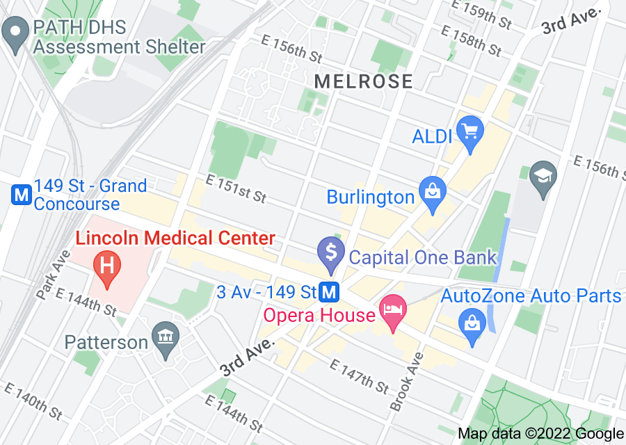 Location of South Bronx