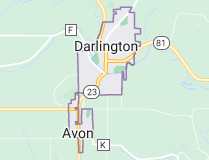 Map of Darlington Wisconsin