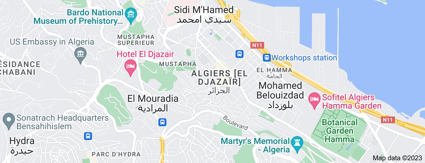 Location of Algiers