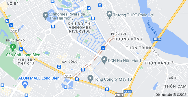 Bản đồ của P. Vũ Xuân Thiều, Long Biên, Hà Nội