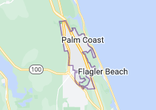 Map of Palm Coast, Florida