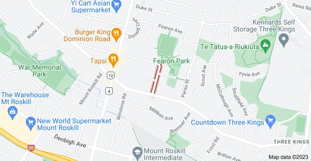 Location of Akarana Avenue