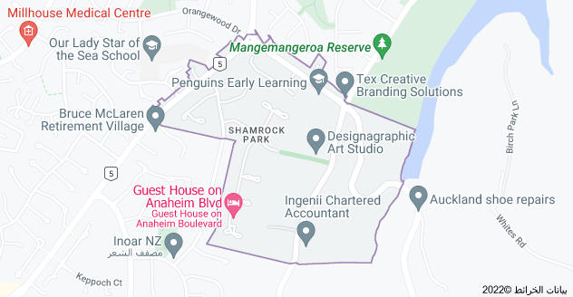 Location of Shamrock Park