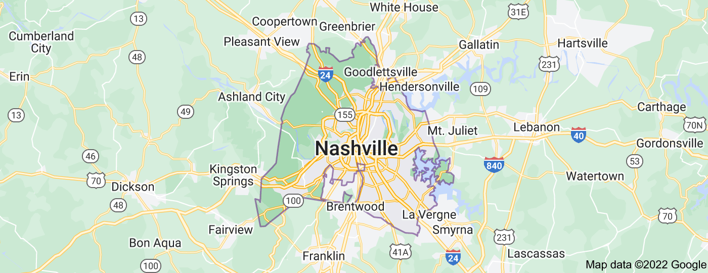 Location of Nashville