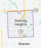 Map of Sterling Heights, Michigan