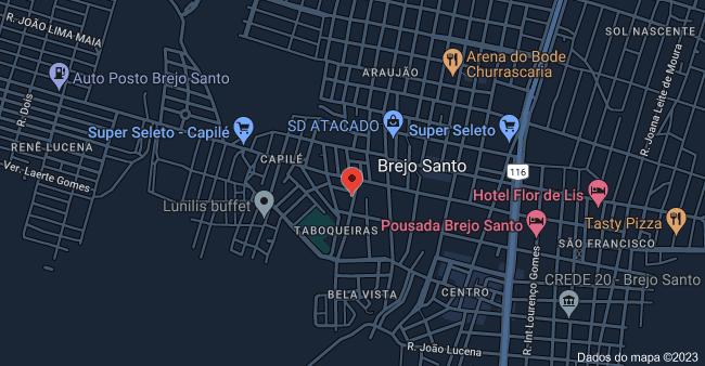 Mapa de R. Manoel Toinho, 278 - Luzia Leite, Brejo Santo - CE, 63260-000