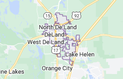 Map of DeLand, Florida