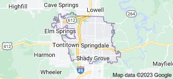 Map of Springdale, Arkansas