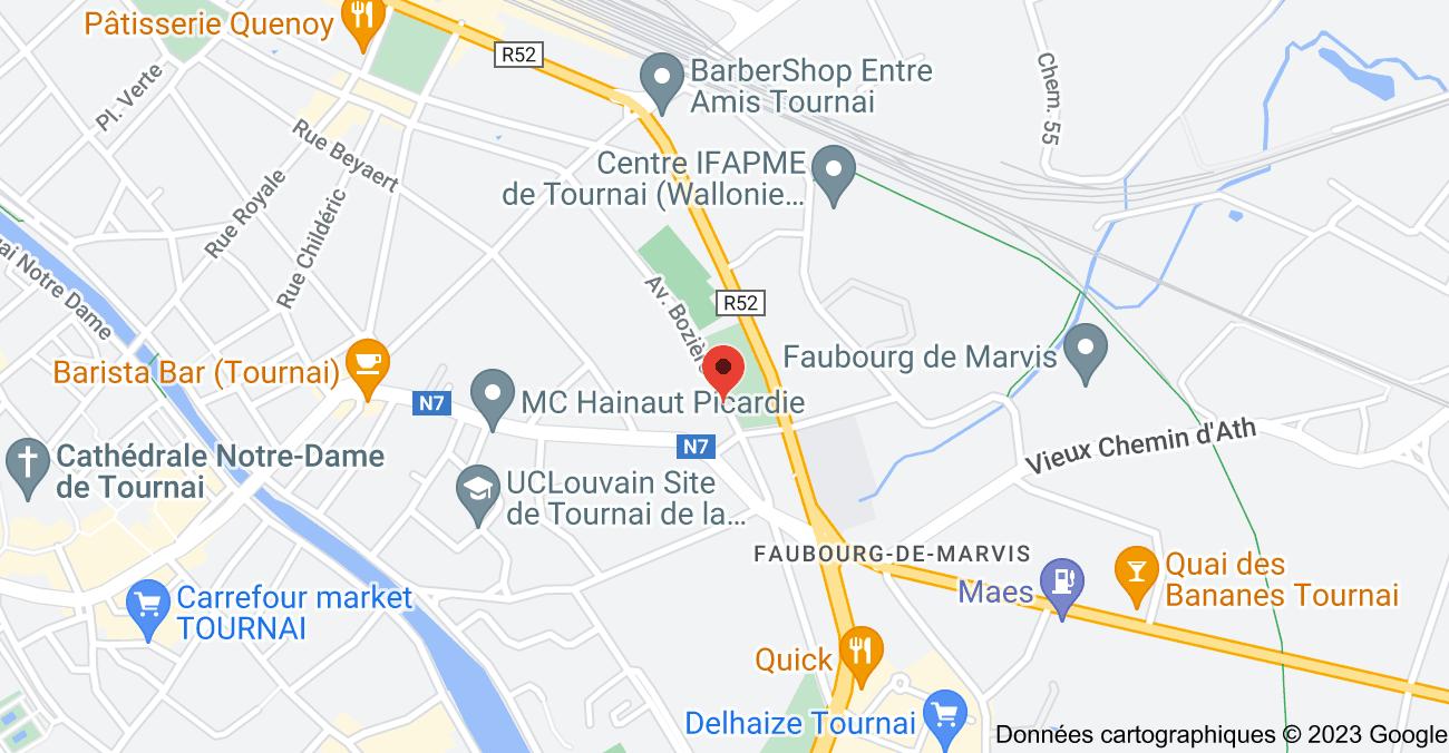 Avenue Bozière 45, 7500 Tournai: carte
