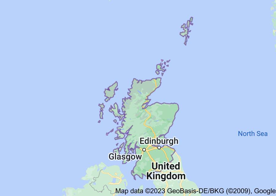 Location of Scotland