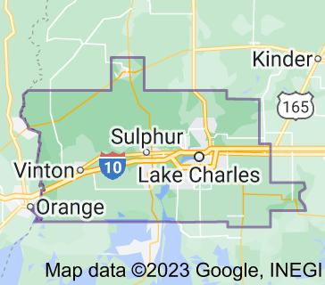 Map of Calcasieu Parish
