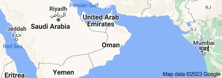 Location of Oman