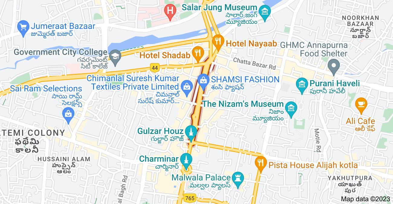 Map of Pathergatti Rd, Hyderabad, Telangana, India