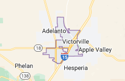Map of Victorville