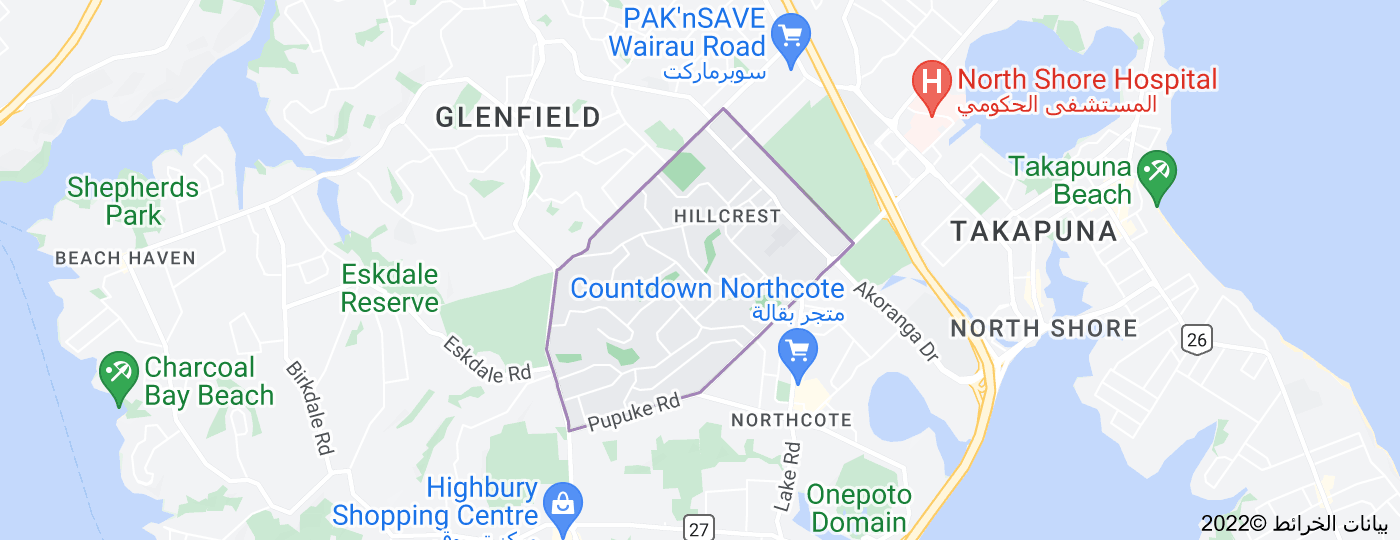 Location of Hillcrest
