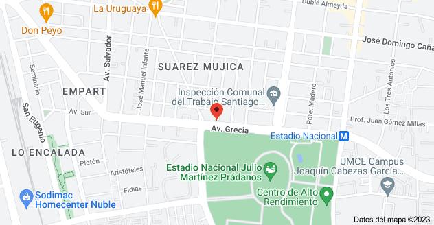Mapa de Eduardo Donoso 868, Ñuñoa, Región Metropolitana