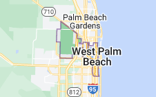 Map of West Palm Beach